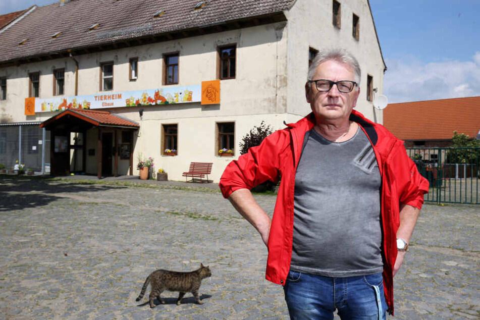Uwe Prestel vom Tierheim Riesa.