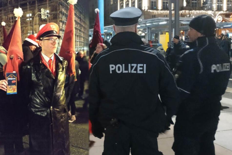 Dresden: Mit Ku-Klux-Klan-Robe auf dem Striezelmarkt: Polizei greift ein
