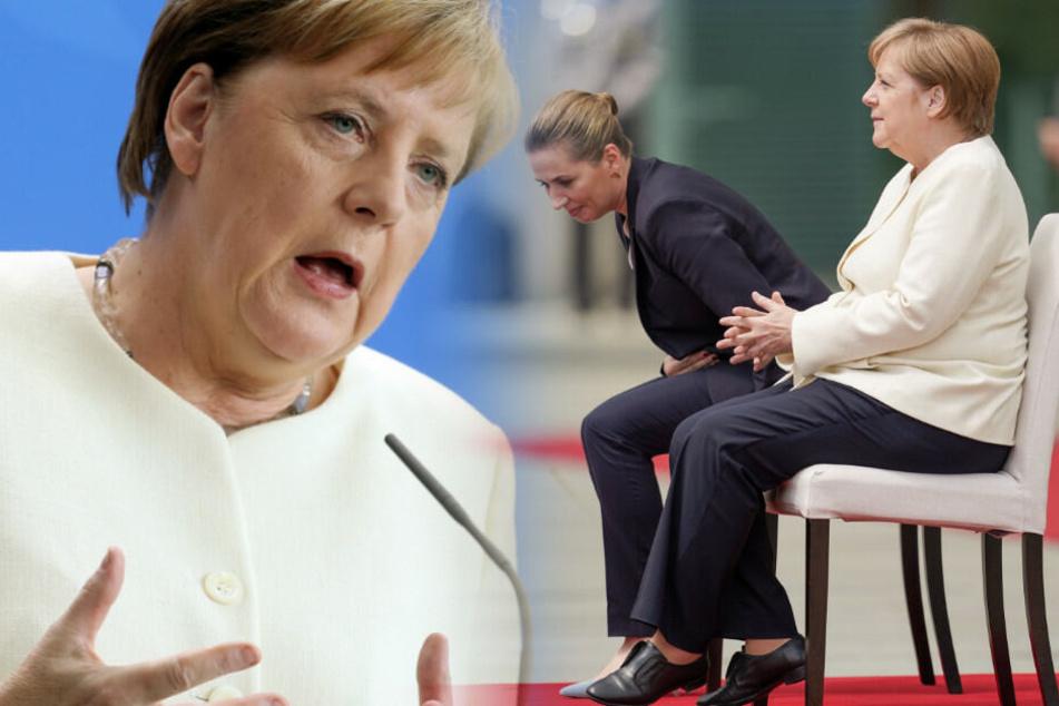 Angela Merkel sitzt neben der dänischen Ministerpräsidentin Mette Frederiksen. (Bildmontage)