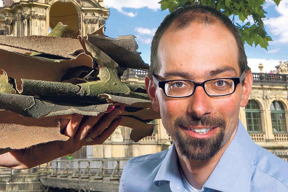 Sachsens BUND-Chef David Greve (43) erklärt den verstärkten Borken-Abwurf in diesem Jahr.