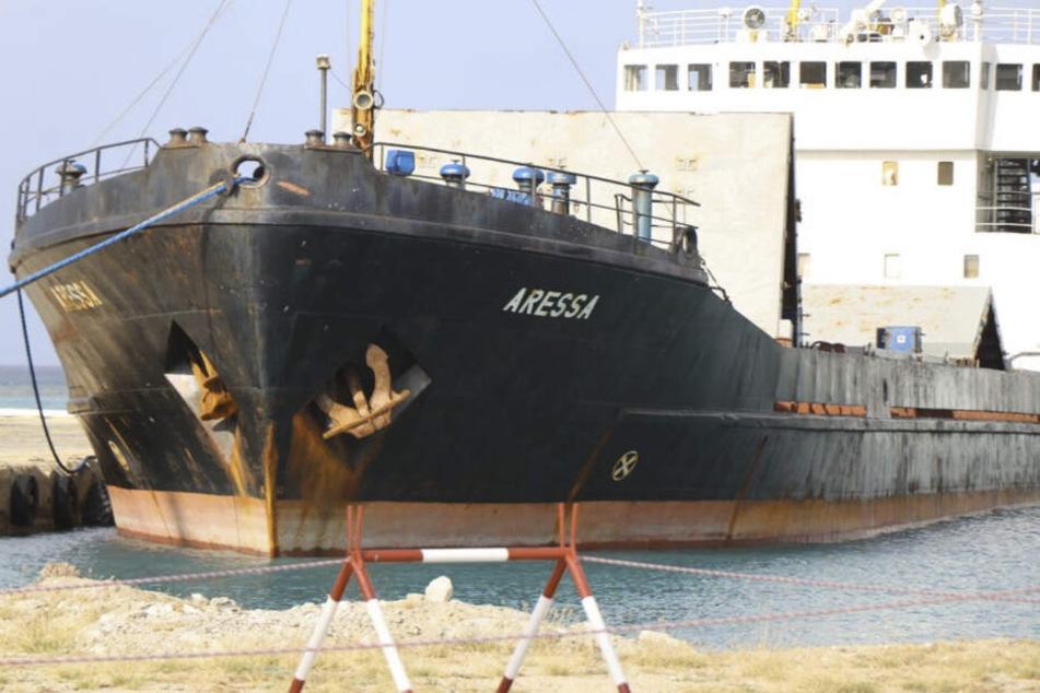 An Bord des Schiffs wurden mehr als fünf Tonnen Drogen gefunden.