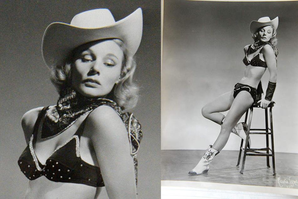 """Verführung pur: Ingrid Stosch-Sarrasani als Cowgirl """"Coronet Gordon"""" in den 50er-Jahren."""