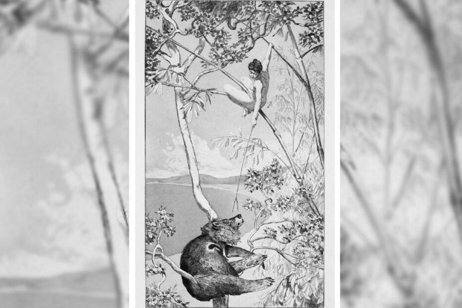 """""""Bär und Elfe"""" - dieses Bild des Leipziger Künstlers Max Klinger (1857-1920) kommt in Waldheim unter den Hammer."""