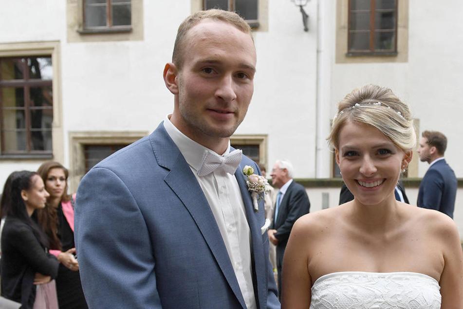 Im Oktober hatten sich beide in Oschatz das Ja-Wort gegeben. Nun sind die zu dritt.