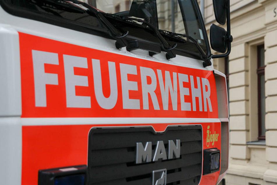 Im Leipziger Stadtteil Volkmarsdorf brannte am Dienstagabend ein Wohnhaus.