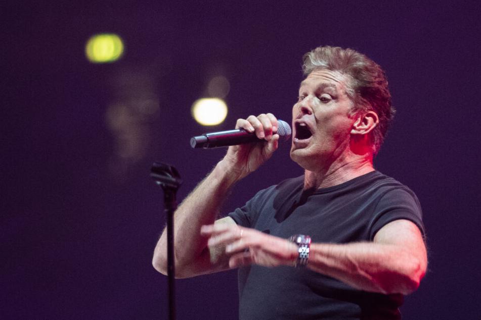 Auch David Hasselhoff sang an dem Abend bei der 90er-Show.