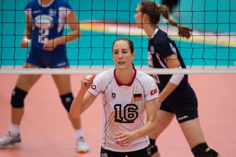 Lena Möllers im Dress der Nationalmannschaft.