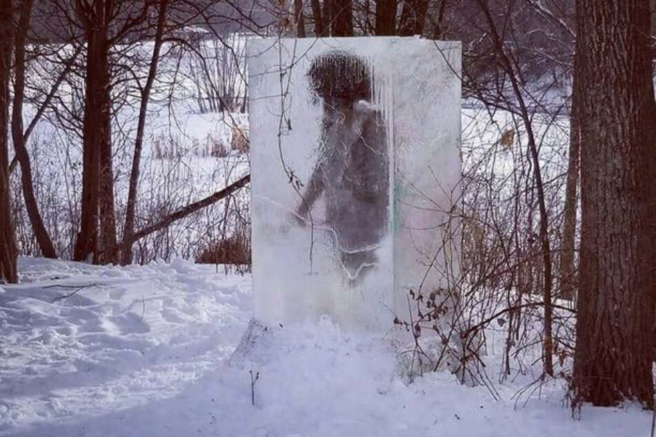 Who or what is that weird creature frozen in the snow?