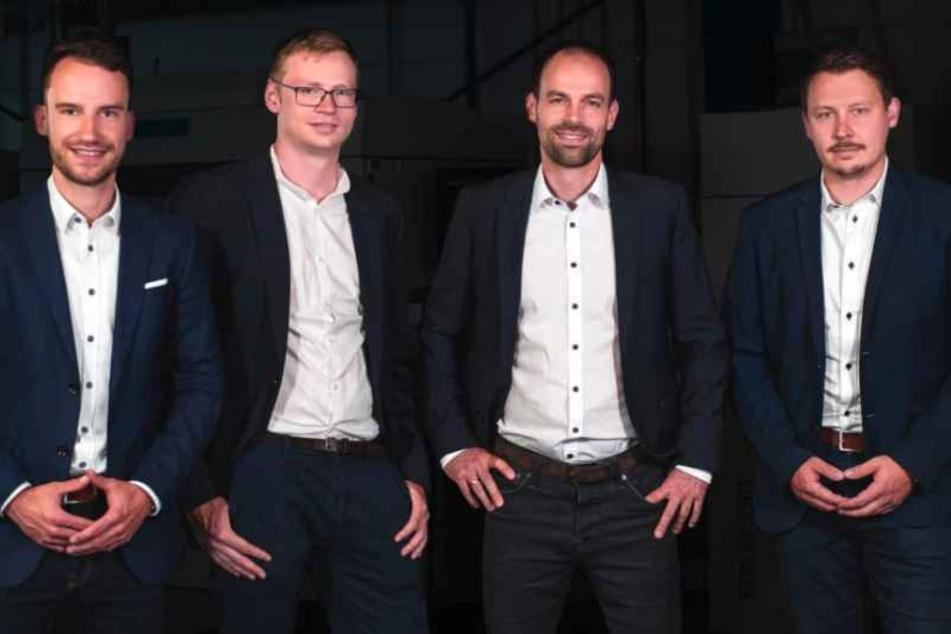 Idee zum Unternehmen gemacht: Philipp Arnold (26, v.l.), Lasse Berling (27), Jakob Jung (36) und Axel Helm (32).