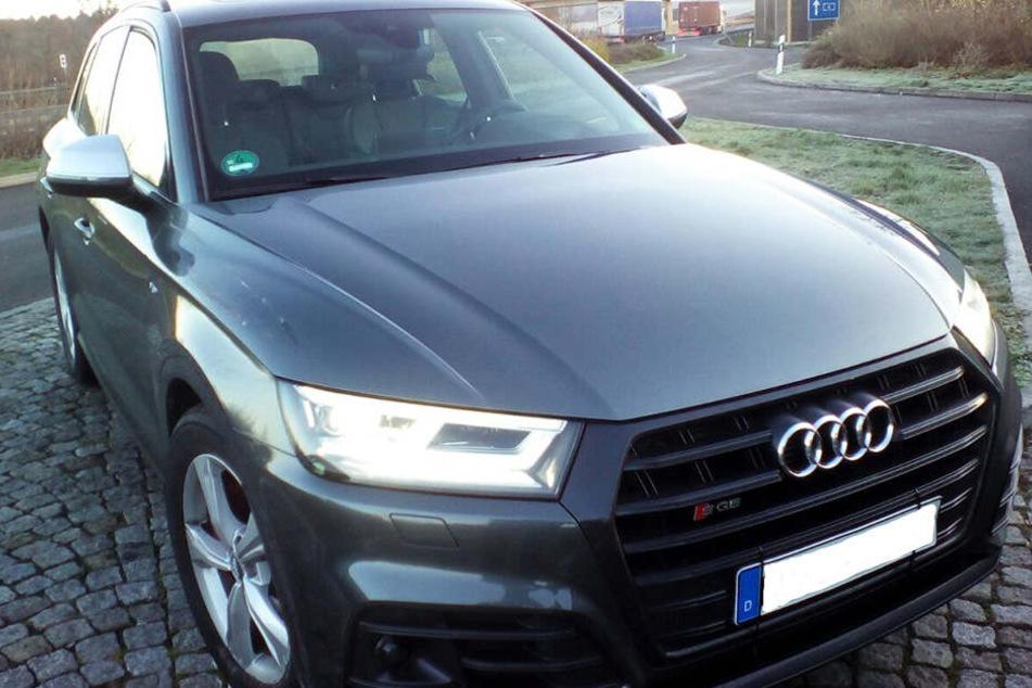 Der gestohlene Audi wurde von der Polizei sichergestellt.