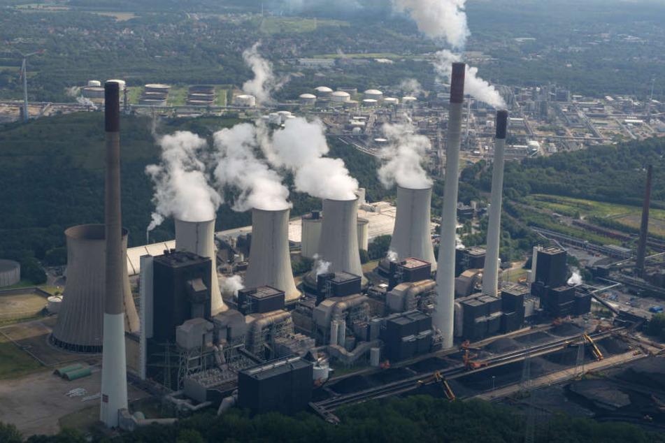 Ein Kraftwerk in Gelsenkirchen-Scholven.