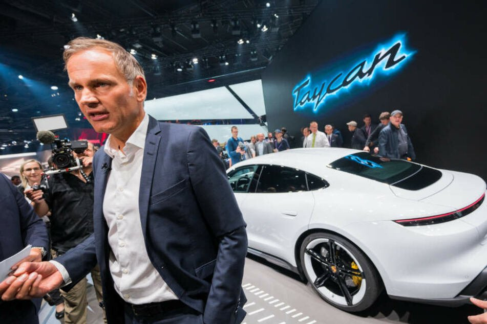 Porsche-Chef Oliver Blume auf der IAA in Frankfurt.
