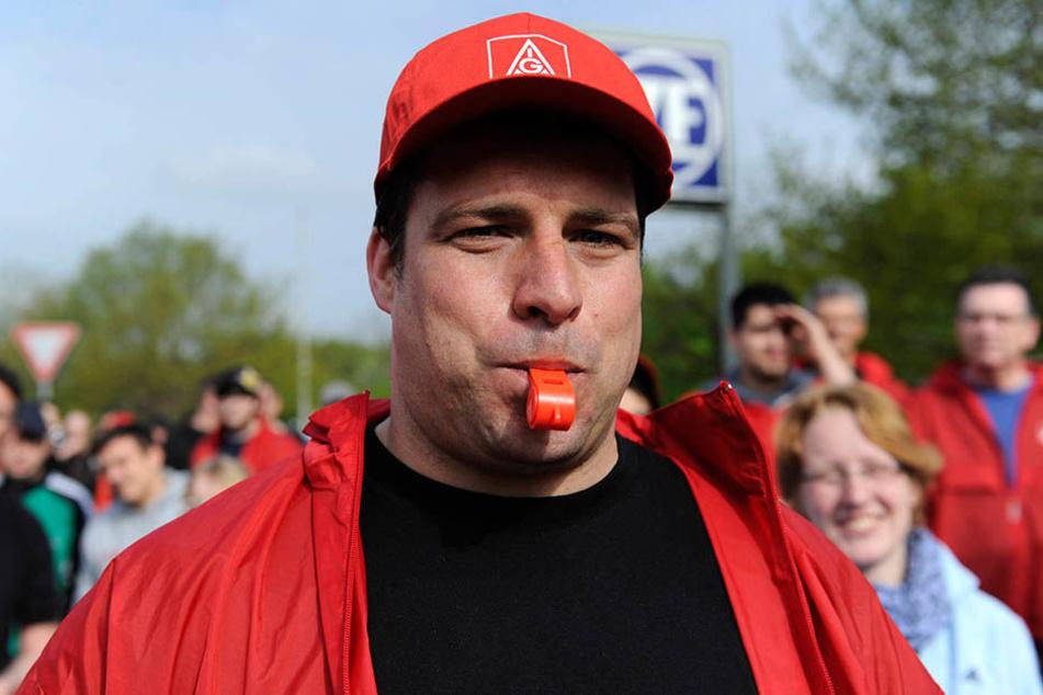 Markus Schlimbach ist stolz auf den Protest, den die Kollegen organisieren.