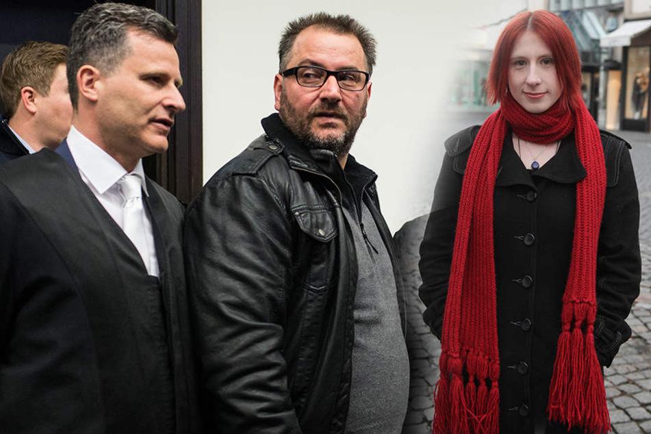 Detlev Binder (li.), Anwalt von Wilfried W. (mi.), hat der Kriminialpsychologin Lydia Benecke (re.) mit einer Klage gedroht.