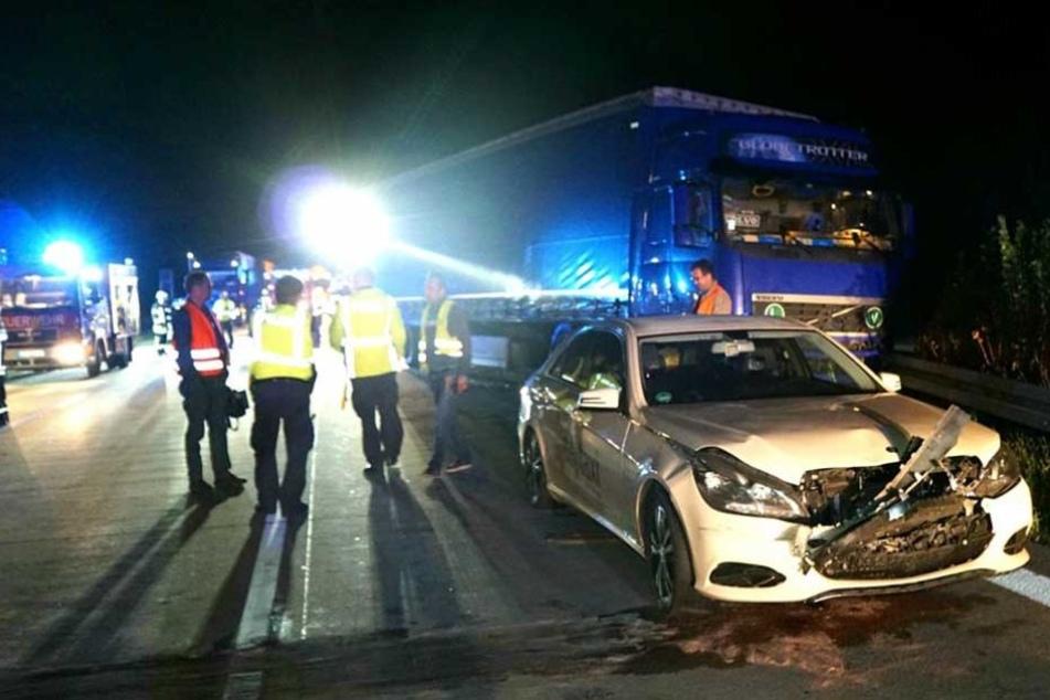 Eines der am Unfall beteiligten Taxis.