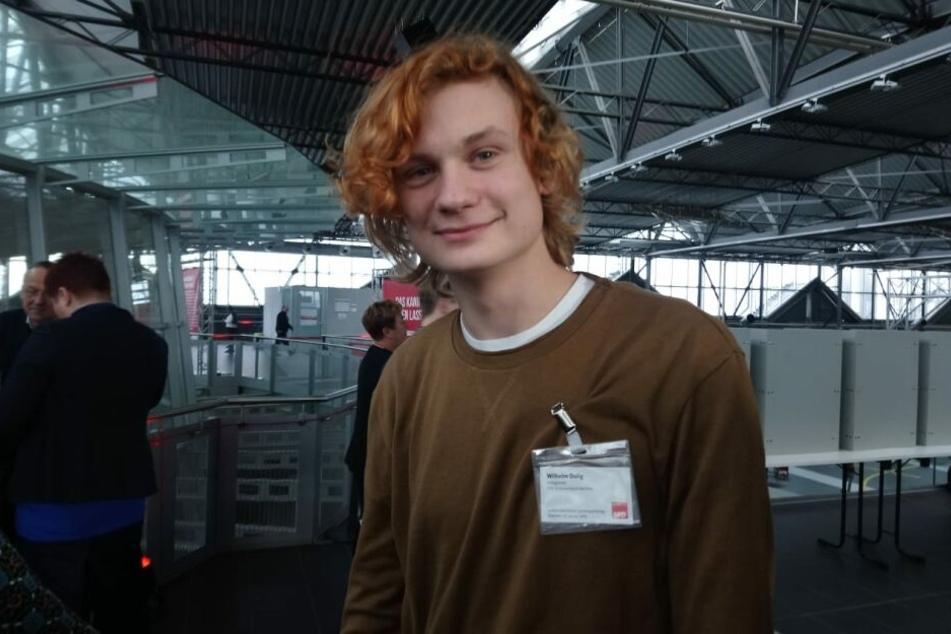 Auch Duligs Sohn Wilhelm (15) war unter den Abgeordneten auf dem Parteitag in Dresden.