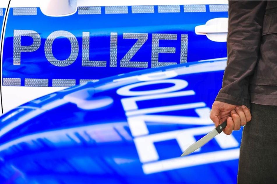 Der 29-Jährige stürmte mit einem Messer auf die Polizisten zu (Symbolbild).