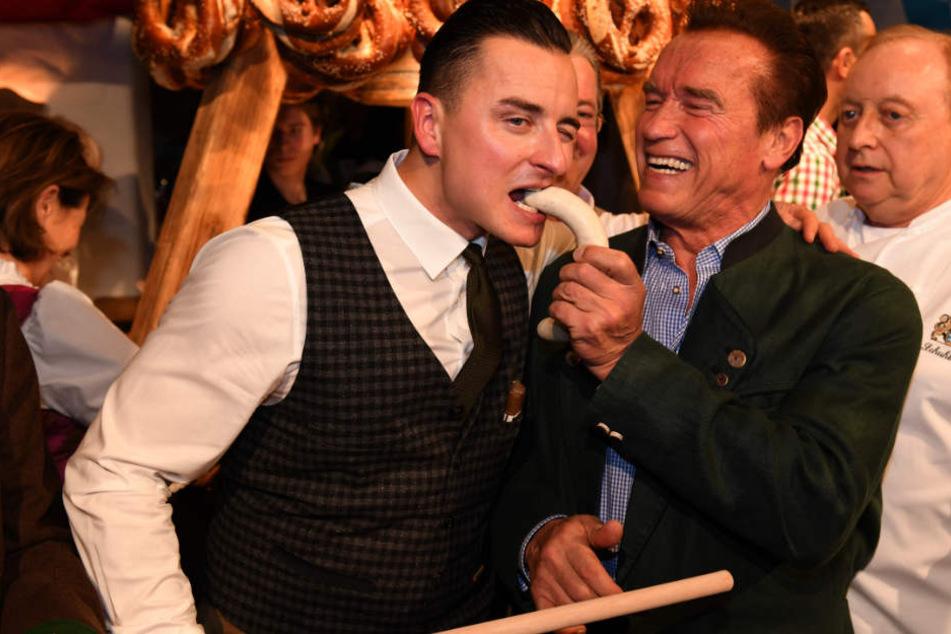 Andreas Gabalier (l.) und Arnold Schwarzenegger (r.) gehen beide trainieren. (Archivbild)