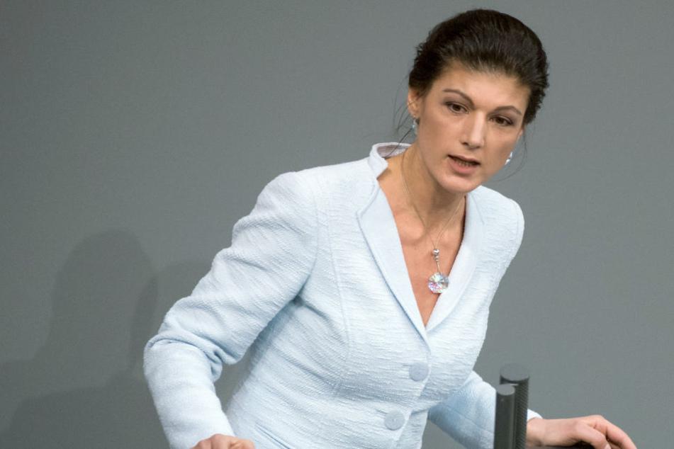 """Sahra Wagenknecht nennt Nahles-Ernennung zur SPD-Chefin einen """"Offenbarungseid""""."""