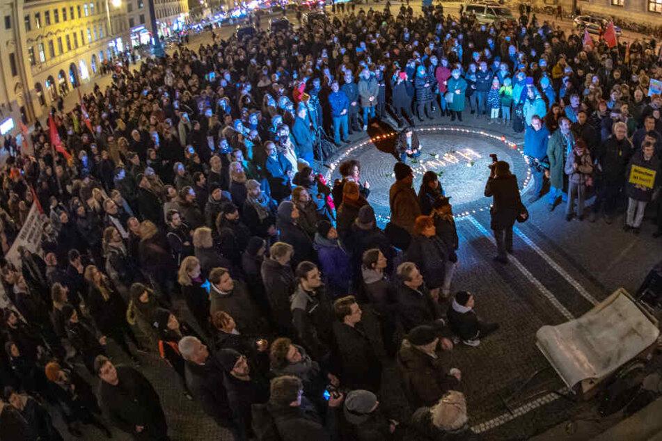 München: Anschlag mit elf Todesopfern in Hanau: Trauer bei Kundgebungen und Mahnwachen