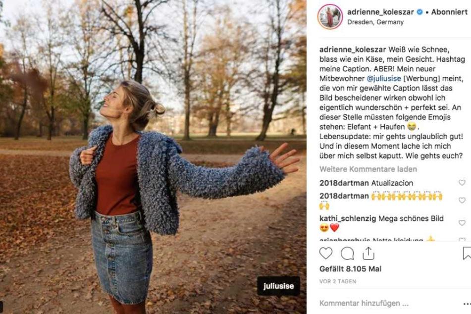 Auf diesem Post aus dem Großen Garten in Dresden verlinkte Adrienne Julius.