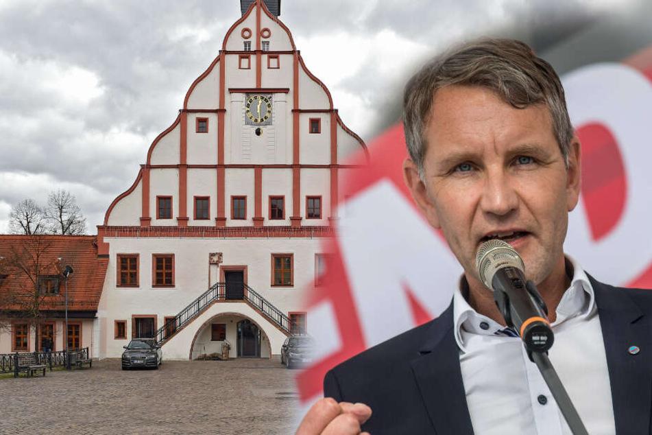 Am 9.August möchte Björn Höcke im Rathaus in Grimma auftreten.