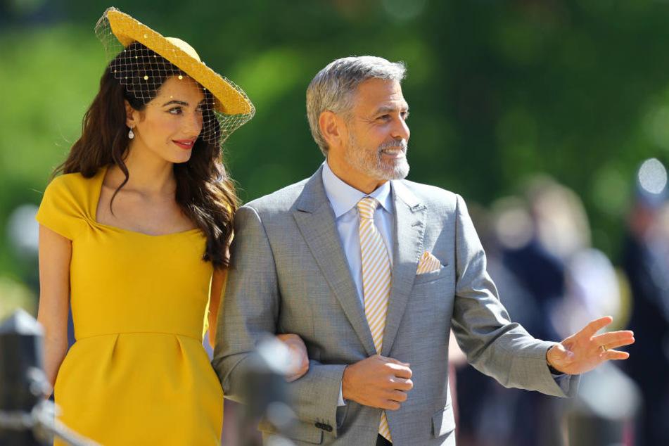 Amal und George Clooney waren auch auf der royalen Hochzeit zu Gast.