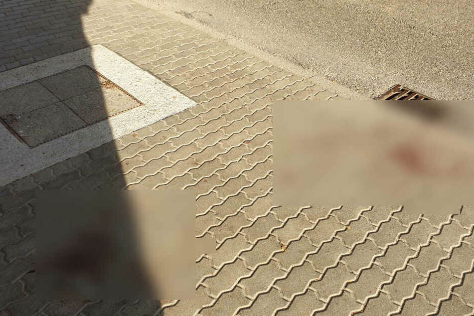 Blutspuren am 14. Oktober am Tatort.