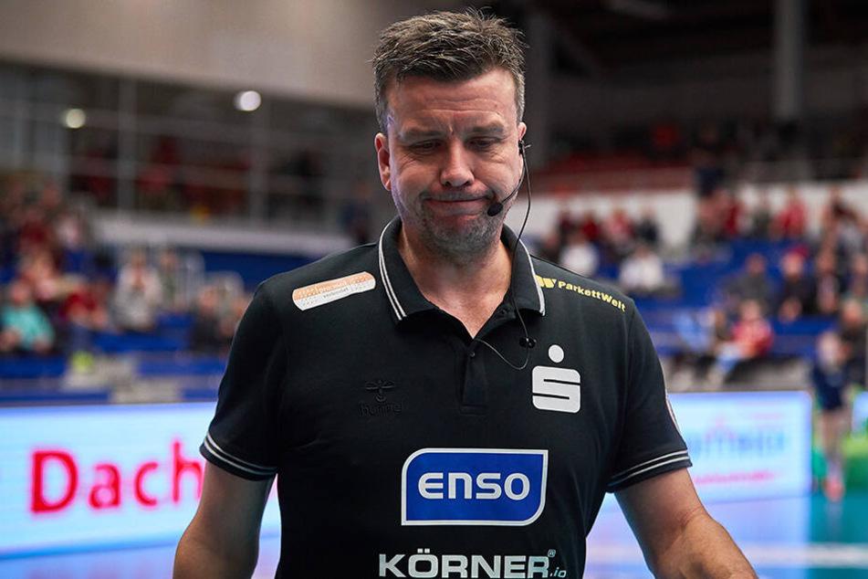 DSC-Chefcoach Alex Waibl war wie seine Spielerinnen erleichtert nach dem Sieg gegen Münster.