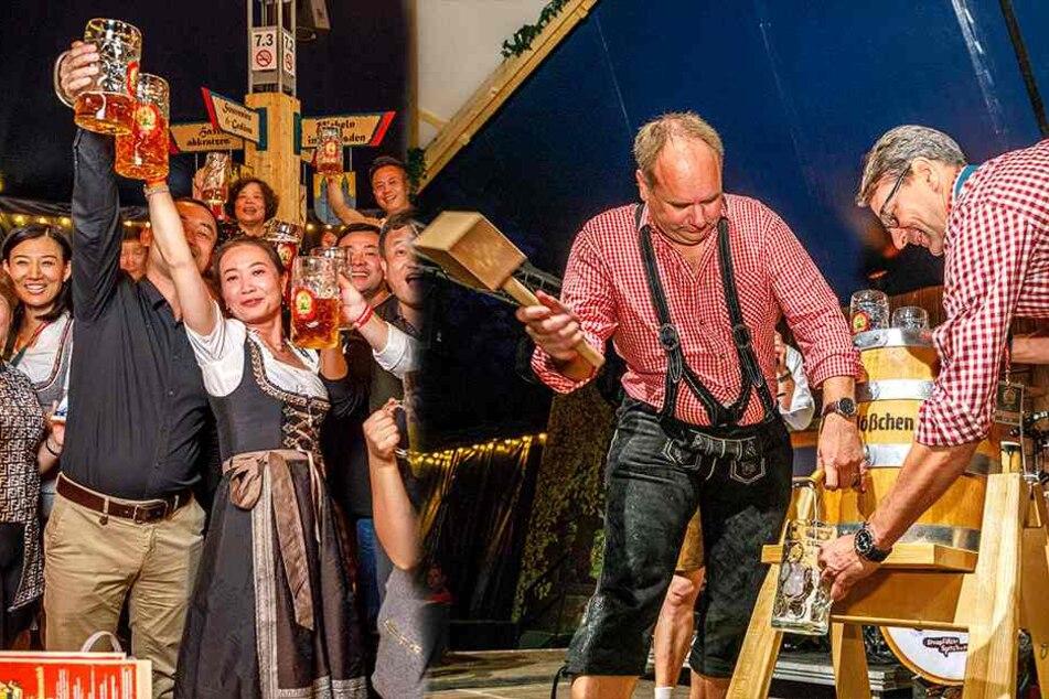 Start des Pichmännel-Oktoberfestes! Hier macht OB Hilbert ein Fass auf