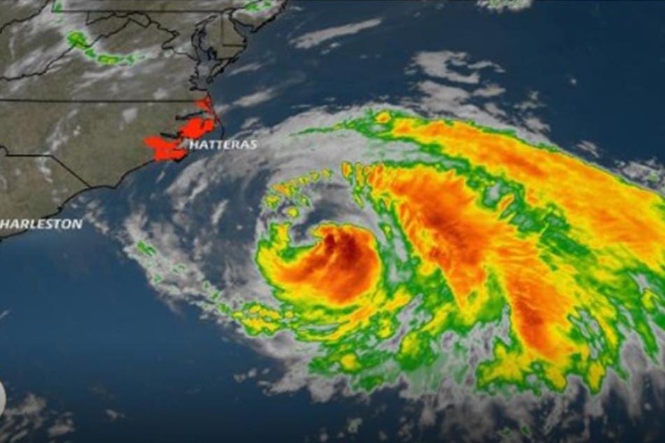 """""""Maria"""" bewegt sich derzeit auf die Ostküste der USA zu."""