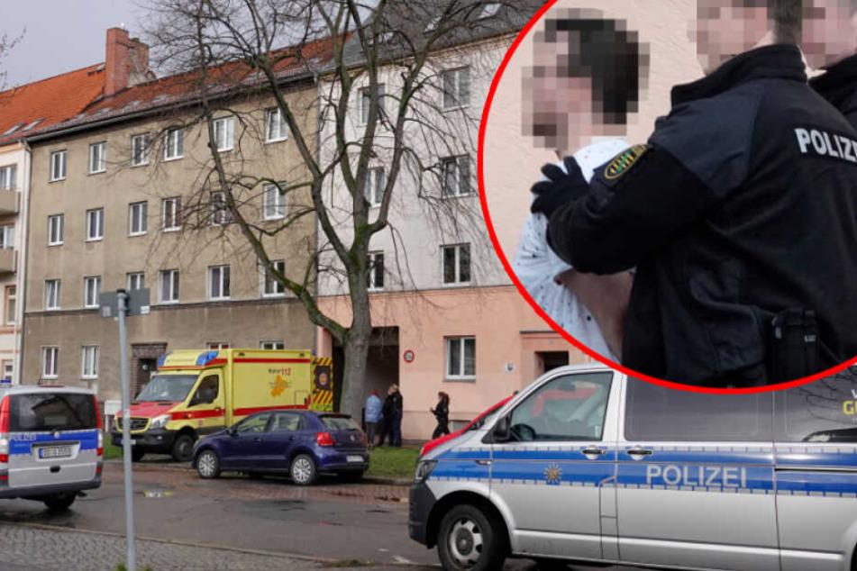 Chemnitz: Polizeieinsatz in Chemnitz: Mann (25) soll Frau mit Messer verletzt haben!