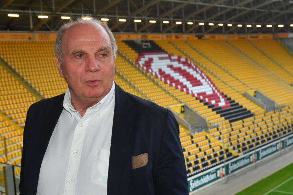 Uli Hoeneß (66) äußerte sich auch deutlich zu den Chancen für den Ostfußball.
