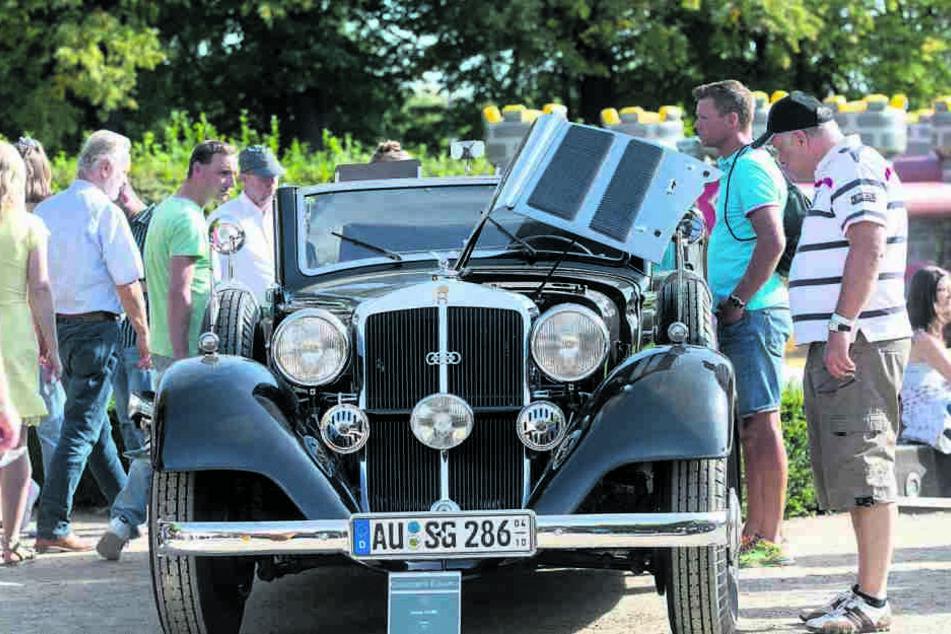 Augenweide: Dieser Horch 830BL wurde als schönstes Fahrzeug bei der Parade prämiert.