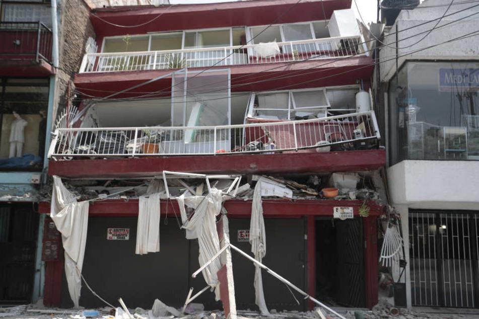 Allein in Mexiko-Stadt stürzten 38 Gebäude ein.