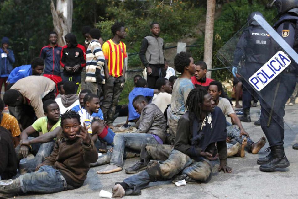 Die Flüchtlinge, die den Grenzzaun gestürmt haben, kommen überwiegend aus Gebieten südlich der Sahara.