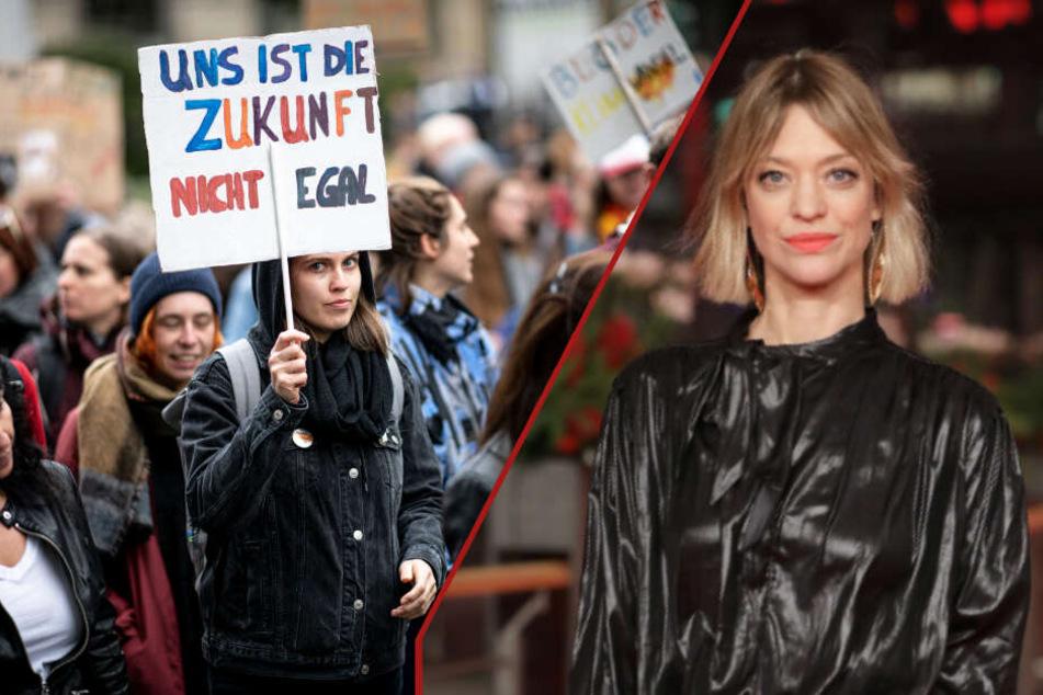Heike Makatsch ist Teil der Fridays-for-Future-Bewegung.