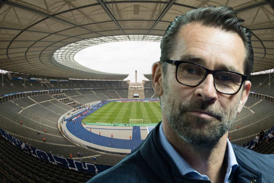 Für Herthas Manager Michael Preetz ist ein Umbau des Olympiastadions keine Option.