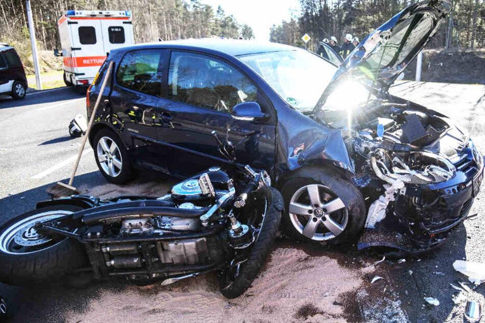 Der Unfall ereignete sich im Bereich einer Autobahnzufahrt bei Brandenburg.