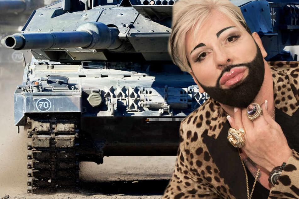 Panzer sind Kriegswaffen, für was brauchte sie Designer Harald Glööckler?