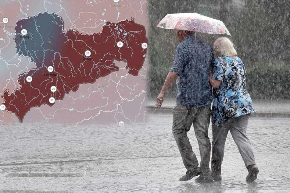 Sintflutartige Regenfälle: Schon wieder drohen Unwetter!
