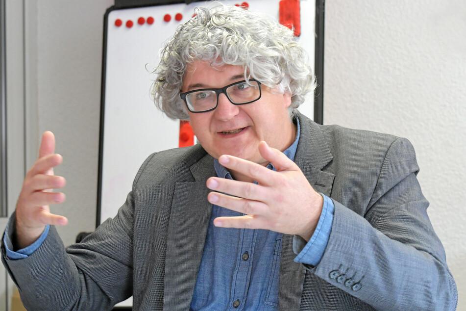 Ärgert sich über das beharrlich schweigende Rathaus: Stadtrat Tilo Kießling (49, Linke).