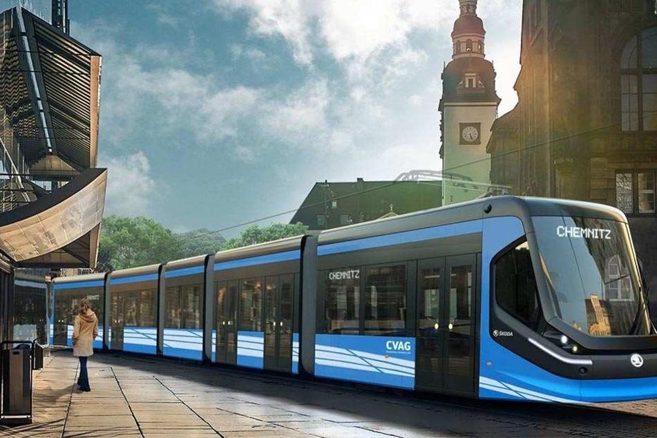 Die neuen Skoda-Bahnen, die ab 2018 in Chemnitz fahren sollen, haben dann  auch WLAN-Hotspots.