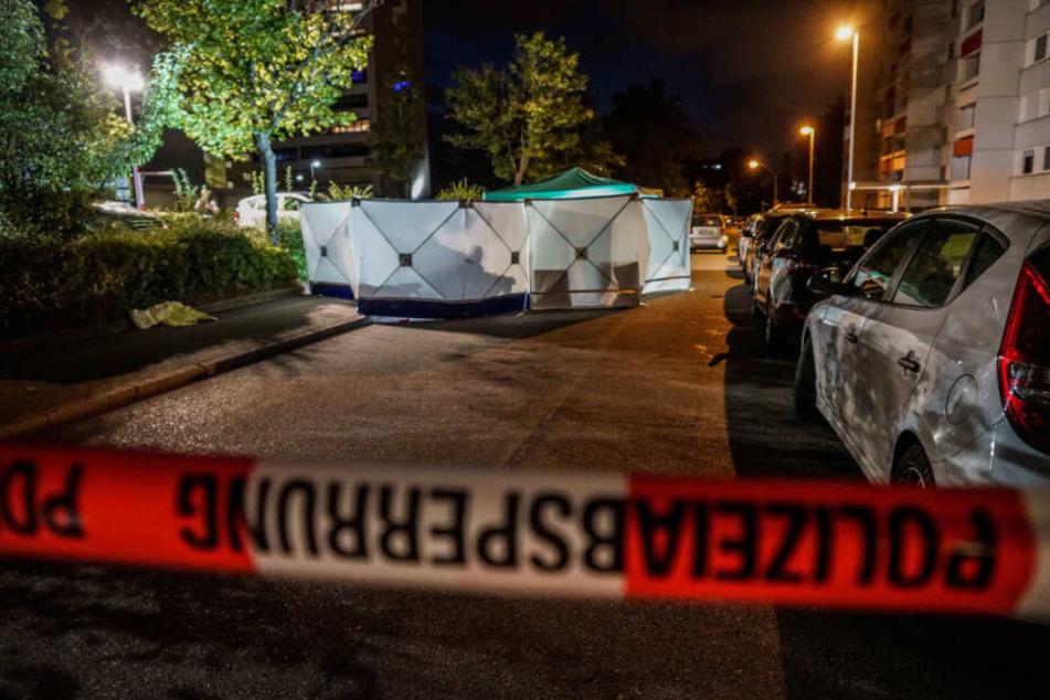 Ein Blick auf den Tatort am Abend des Vorfalls.