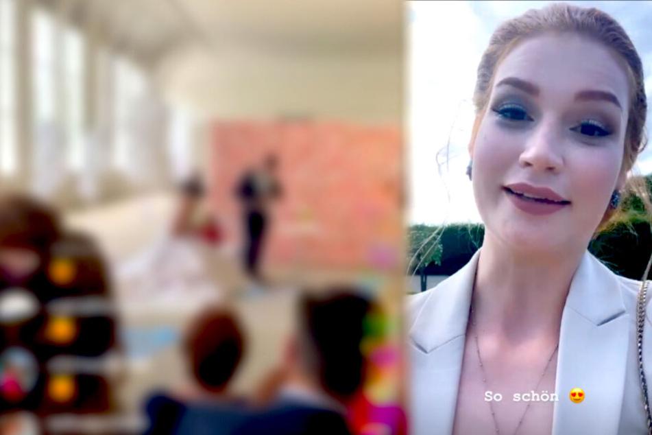 """Ex-GNTM-Model Jana Heinisch überträgt Hochzeit ihrer """"BFF"""" live und das Netz flippt aus!"""