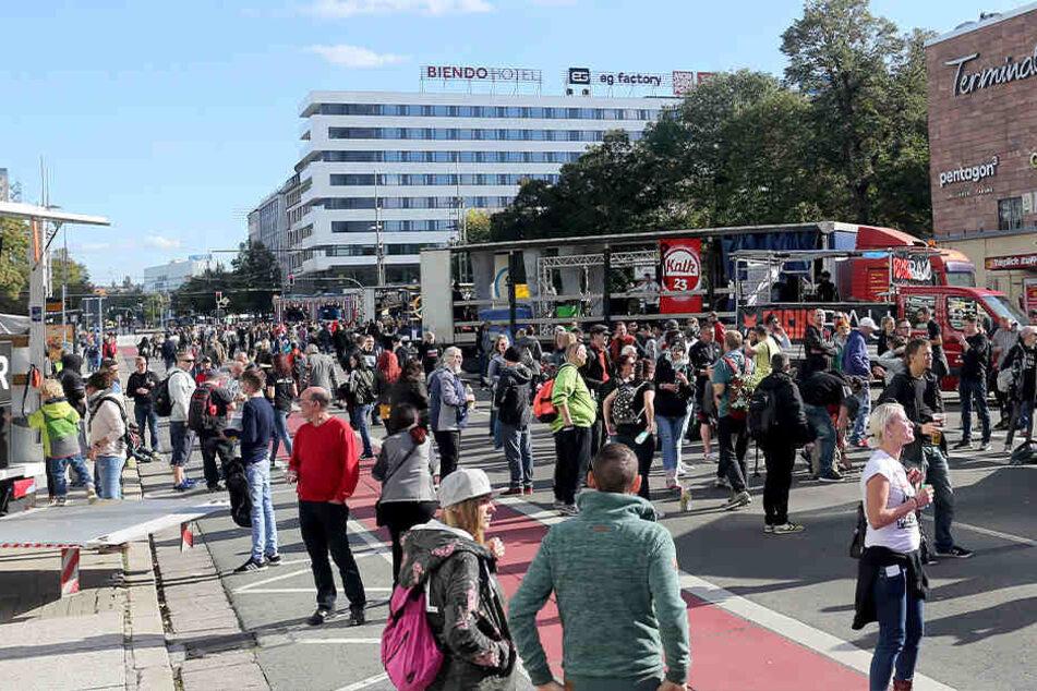 """2018 fand die erste """"East-Parade"""" in Chemnitz statt."""