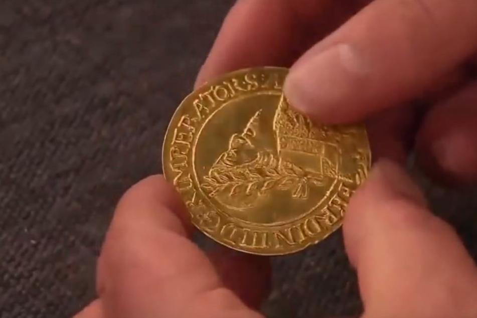 Die Münze von 1648 wurde in der Sendung für 25.000 Euro verkauft.