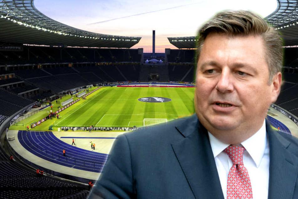 Berlins Sportsenator Andreas Geisel hält nicht viel von der Idee, das Olympiastadion umzubauen.