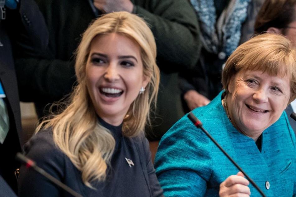 Ivanka Trump (li.) und Angela Merkel werden sich beim Frauengipfel in Berlin wiedersehen.