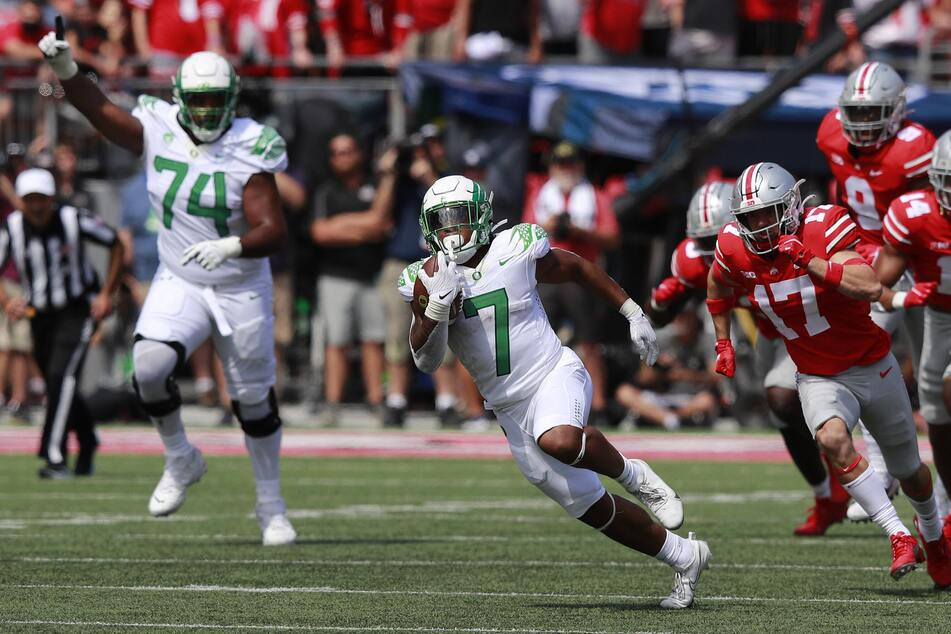 Oregon running back C.J. Verdell rushed for three touchdowns and caught another in the Ducks win over the Buckeyes on Saturday.